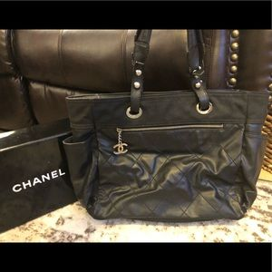 Authentic CHANEL Matelasse large quilted tote